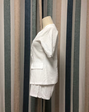 Linen Refreshing Suit Jacket Shorts Suit