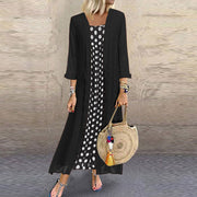 Fashion Round Neck Polka Dot Two-Piece Dress