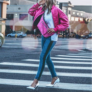 Fashion Street Style Stitching Solid Color Jacket BJ100