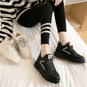 Women's Casual Luminous Lightweight Lace Up Sneakers BJ46