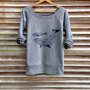 Casual loose dolphin pattern round neck long sleeve sweatshirt RY45