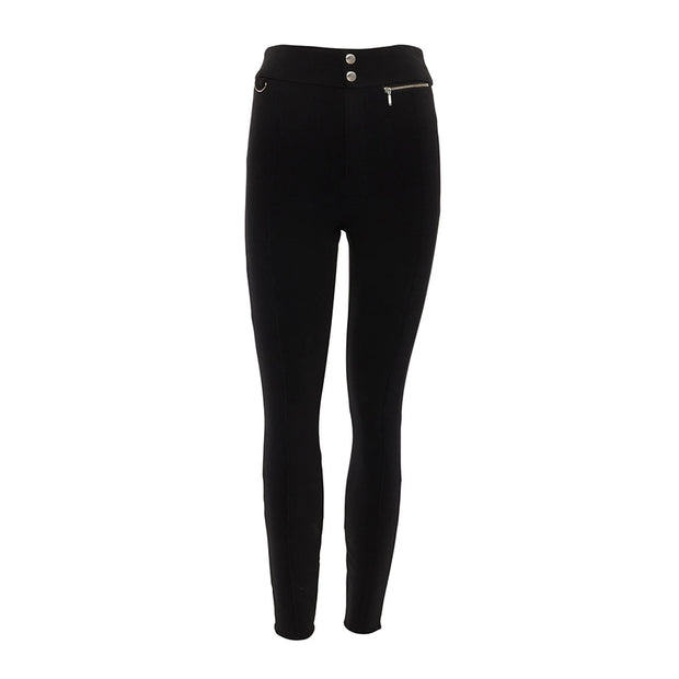 Women's casual solid color slim sports trousers