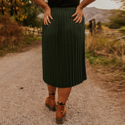 Casual Solid Color Pleated Skirt BJ97
