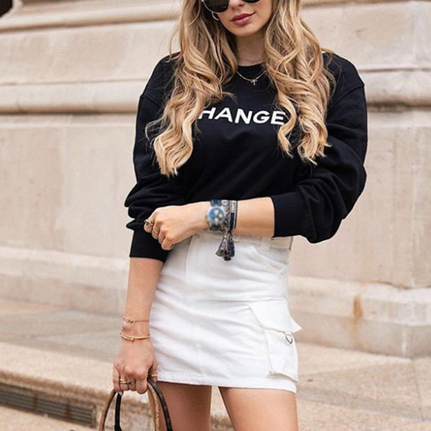 Ladies Fashion Round Neck Sweatshirt RY55