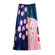 Fashion Polka Dot Printed A-Line Umbrella Skirt wq40