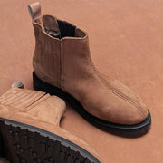 Casual Solid Color Low Heel Martin Boots RY49