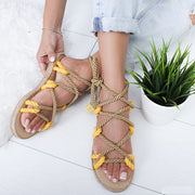 Color Lace Toe Slippers