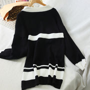 Knit multicolor sweater two-piece suit RS28