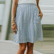 Casual irregular stripe skirt BJ97