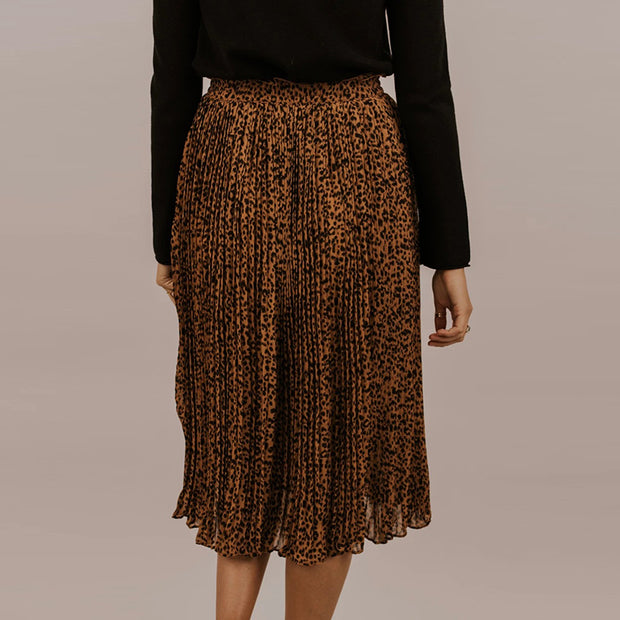 Women's Fashion Casual Leopard Print Skirt BJ97
