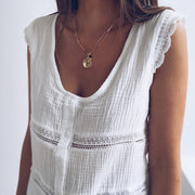 Womens Fashion Simple Striped Vest