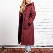 Women's Fashion Single-Breasted Hooded Coat ywy23