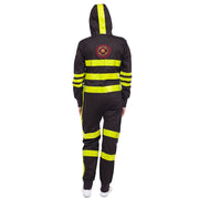 Women's Fashion Colorblock Fluorescent Hooded Jumpsuit ugly BJ71