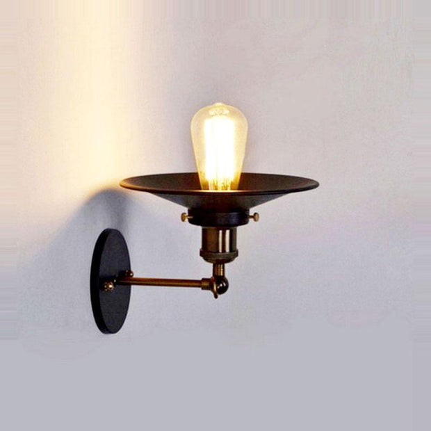 Led Wall Light Retro Loft Industrial Wall Lamp Black E27 Vintage Sconces Wall Lamp Industrial Lighting Fixture Indoor