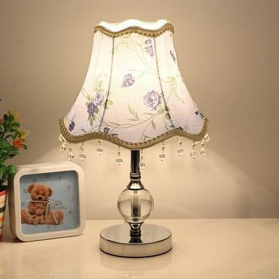 Dimmable LED Table Lamps for Bedroom Crystal Decoration Bedside Lamp Table Lanterns Girl Bedroom Decoration Indoor Lighting