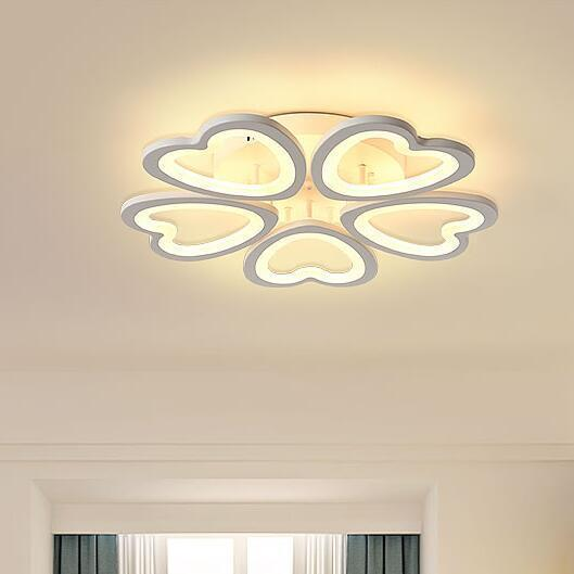 Special discount 6 heads  New Design Acrylic Modern Led Ceiling Lights lampe plafond avize Indoor 4 shapes 100-240V