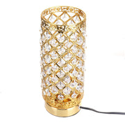 Gold/Silver Modern Crystal Desk Table Lamp Light Beside Night Lamp E27 Holder Home Bedroom Decoration Adjustable Indoor Lighting