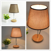 LED Table Lamps for Bedroom Bedside Lamp Modern Color Fabric Lampshade Table Lights Indoor Decor Lighting Fixtures