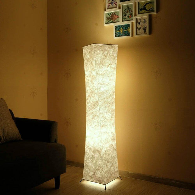 LED Floor Lamp Softlighting Nordic Minimalist Design Fabric Shade torso standing lamps for Living Room Bedroom