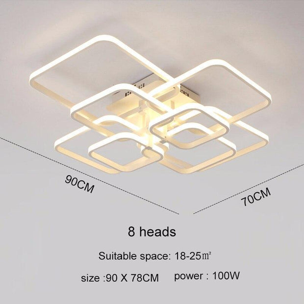 Touch Remote Dimming Modern  LED Ceiling Lamp Fixture Aluminum Dining Living Room Bedroom Lights Lustre