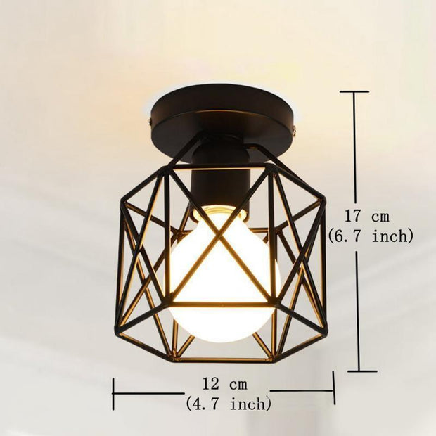 LED Energy Saving Lamps Retro Industrial Style Ceiling Light Creative Modern Black Iron Craft Light  Used In Bars, Hotels