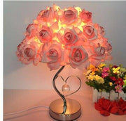 European crystal table lamp Rose flower Night Light bedside lamp home wedding party decor decoration lights indoor lighting