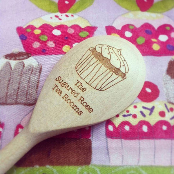 Personalised Wooden Cupcake Spoon - Cupcake without Cherry 2
