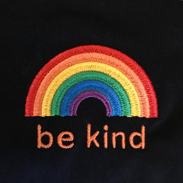 Be Kind Rainbow embroidered sweatshirt for adults and children