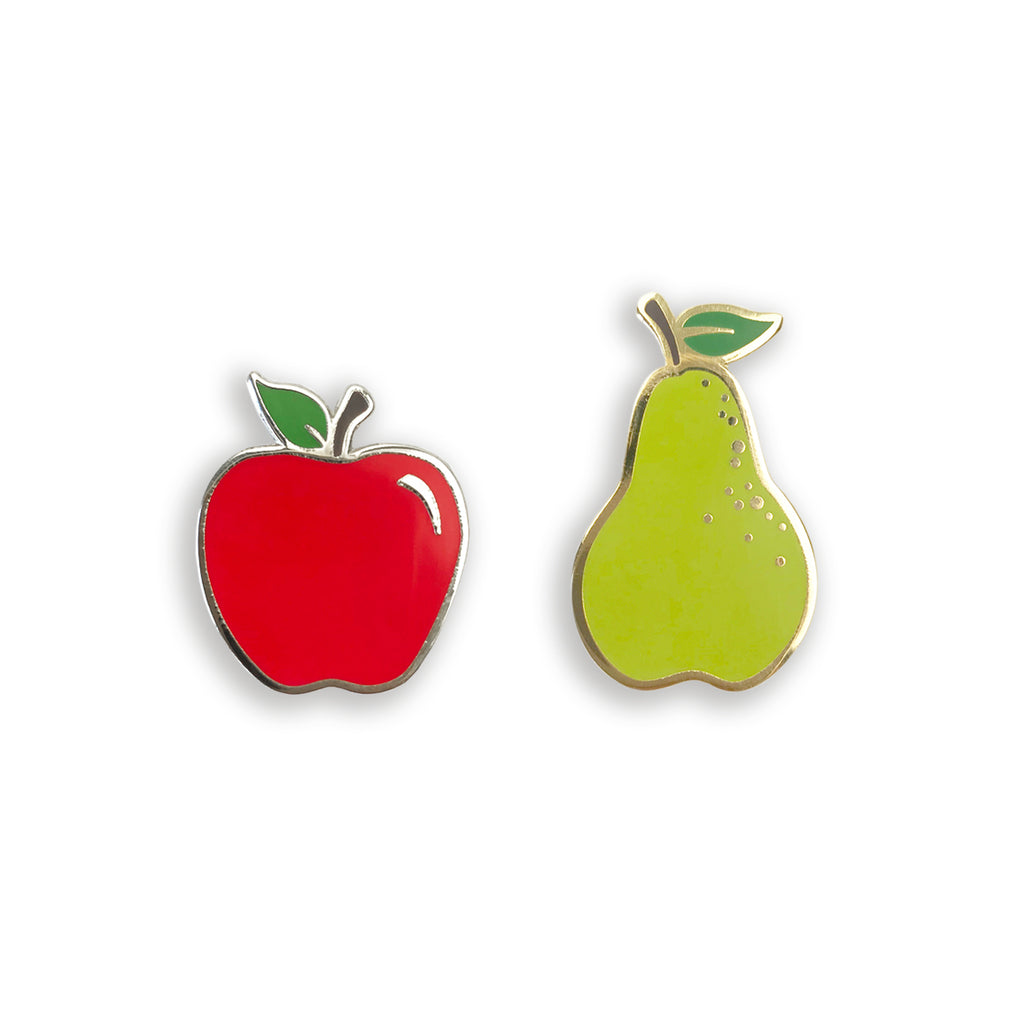 Apples and Pears Enamel Pin Set - Auntie Mims