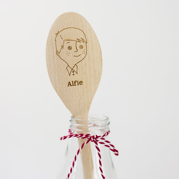 Personalised Wooden Spoon - Boy Spoon