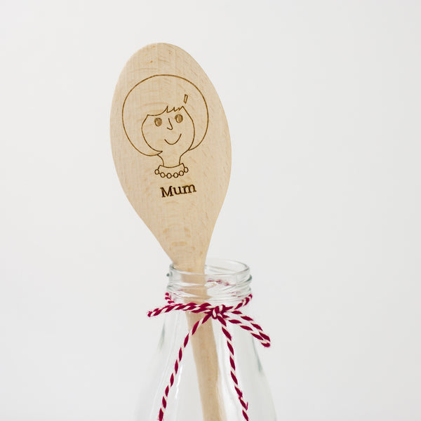 Personalised Wooden Spoon - Lady Spoon
