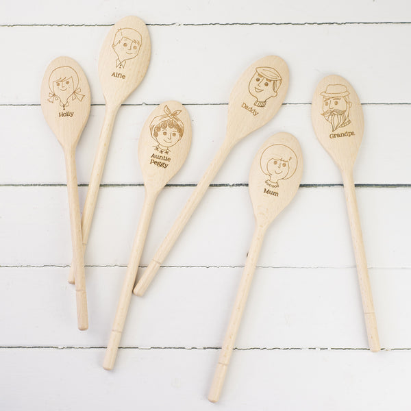 Personalised Wooden Spoon - a Unique gift and original gift from Auntie Mims ideal for Christmas