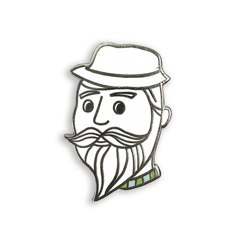 enamel pin - beardy dude - Auntie Mims