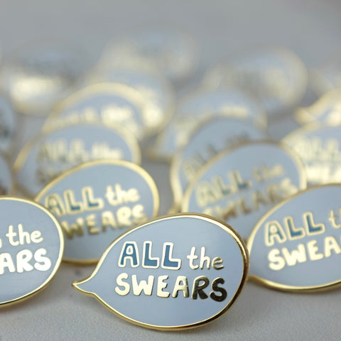 All the Swears Enamel Pin - a Unique gift and original gift from Auntie Mims ideal for Christmas