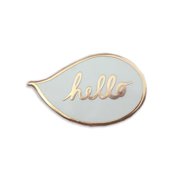 Hello Speech Bubble Enamel Pin - Auntie Mims