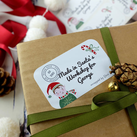 Personalised Stickers From The North Pole - a Unique gift and original gift from Auntie Mims ideal for Christmas