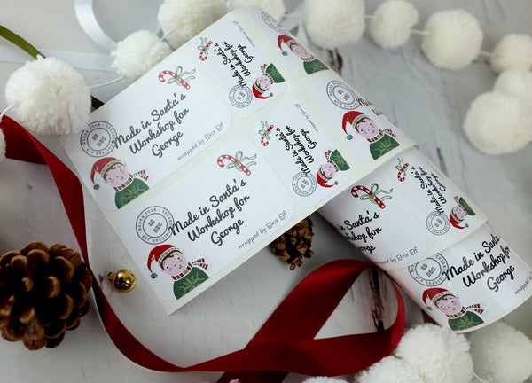 Personalised Stickers From The North Pole - 3