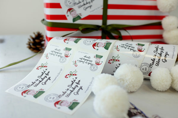 Personalised Stickers From The North Pole - Variation of Stickers