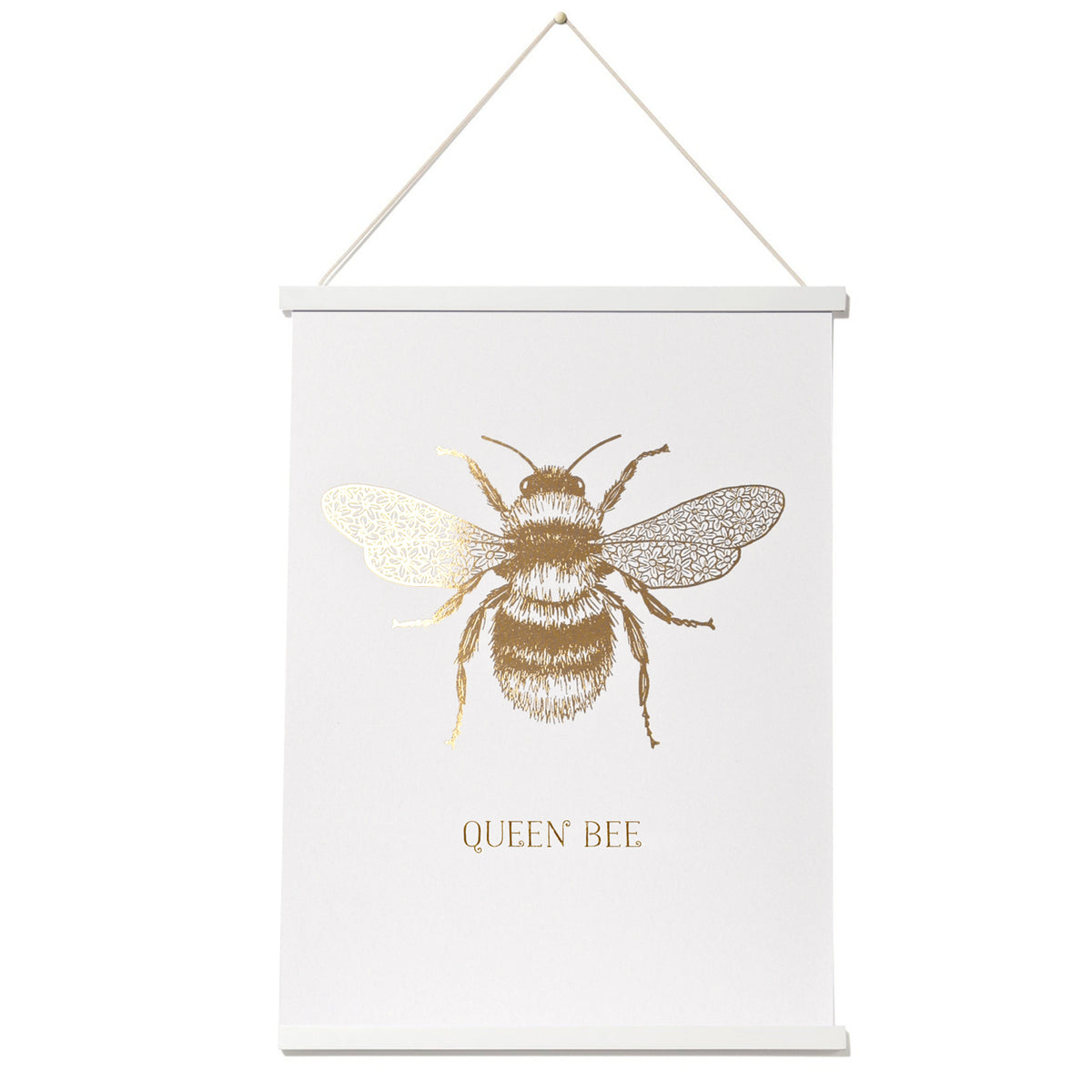 Queen Bee Gold or Copper Print - a Unique gift and original gift from Auntie Mims ideal for Christmas