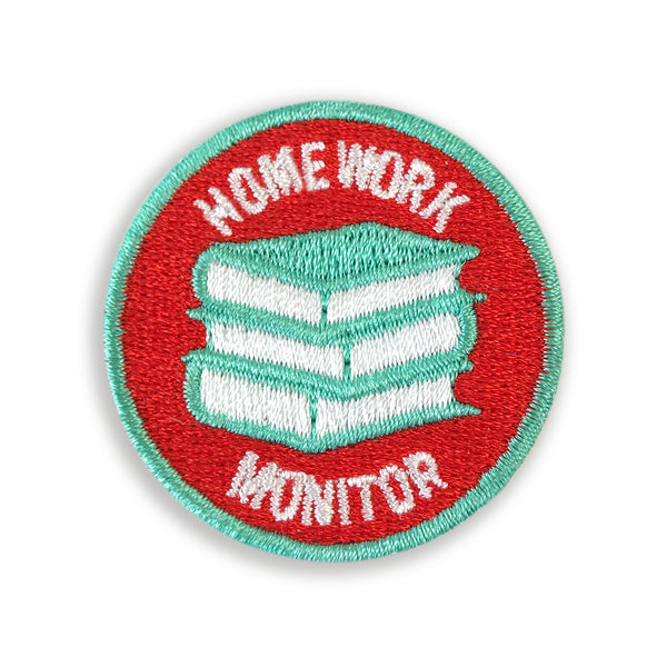 Merit Patch Awards For Grown Ups And Little People - HOMEWORK MONITOR - Auntie Mims