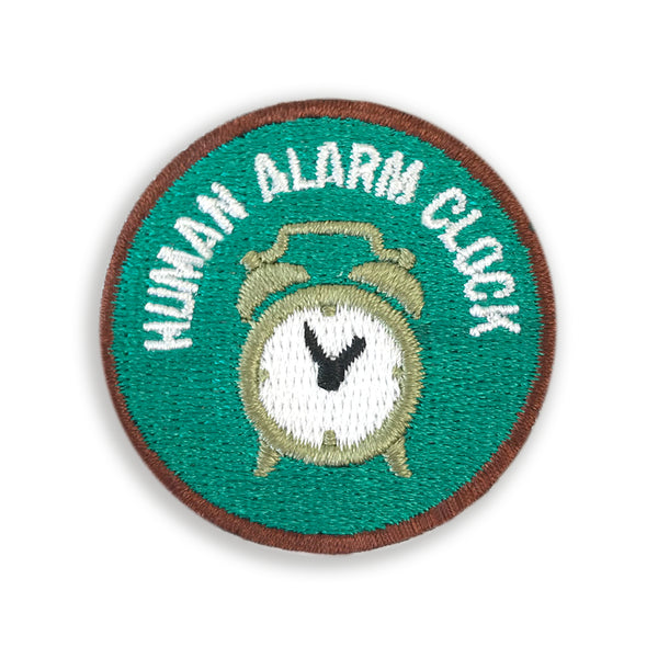 Merit Patch Awards For Grown Ups And Little People - HUMAN ALARM CLOCK - Auntie Mims