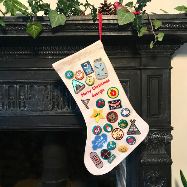 Badge And Patch Advent Calendar Christmas Stocking