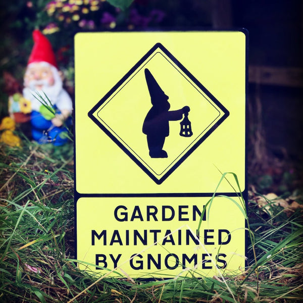 Garden Gnome Signs - a Unique gift and original gift from Auntie Mims ideal for Christmas