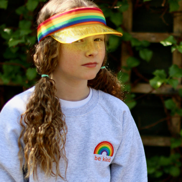 Be Kind Rainbow embroidered sweatshirt for children