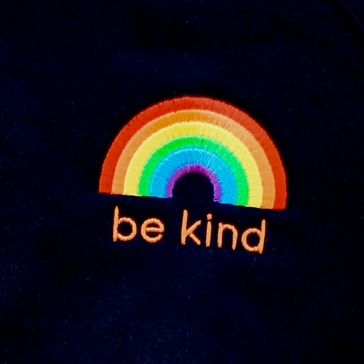 Be Kind Rainbow Embroidered Sweatshirt Three Colours
