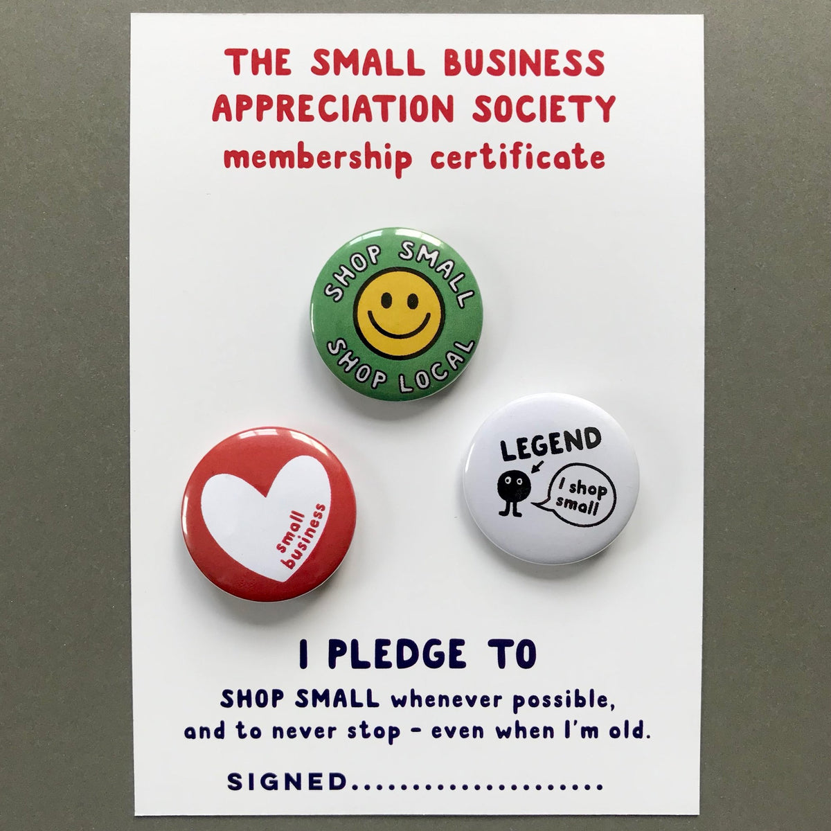 Small Business Shopper and shop small badges