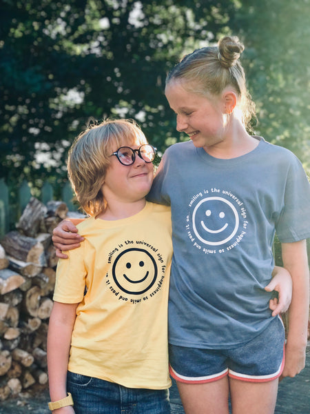 Smile childs t shirt - a Unique gift and original gift from Auntie Mims ideal for Christmas