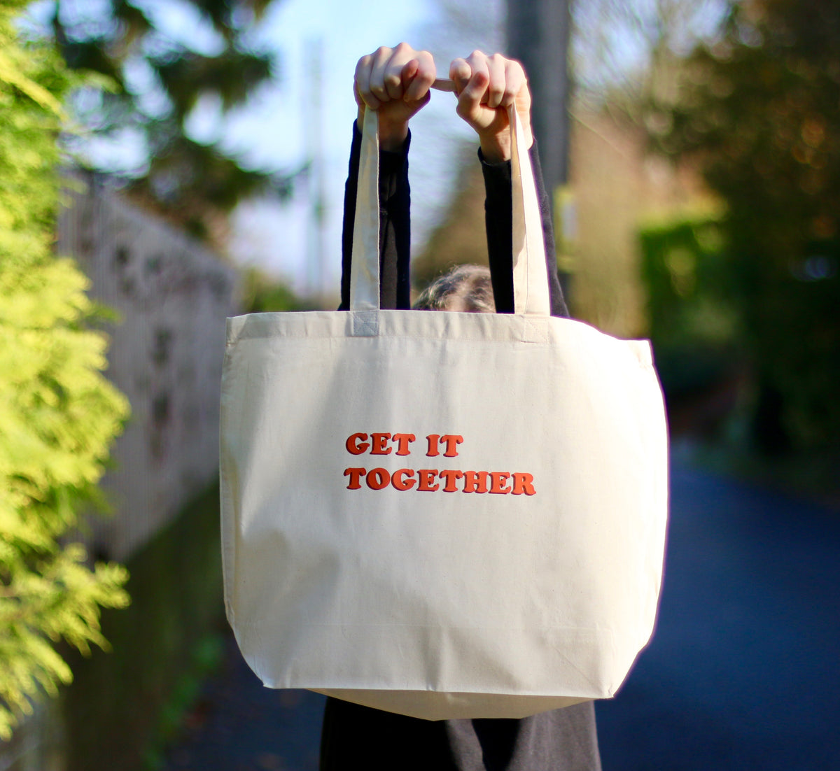 Get it Together Screen Printed Cotton Shopper Bag
