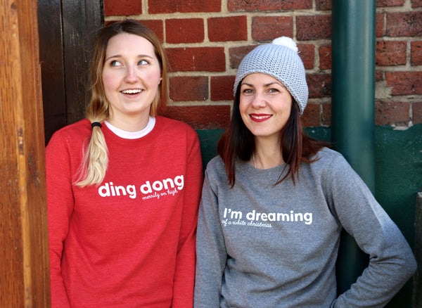 Ding Dong Merrily On High Christmas Sweatshirt - a lovely Unique Gift from Auntie Mims