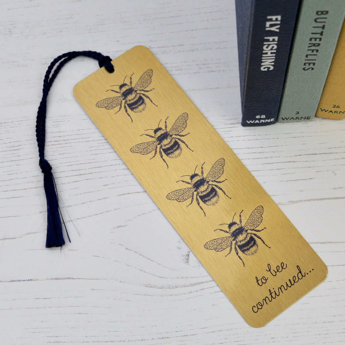 Gold Bee Design Metal Bookmark - a lovely Unique Gift from Auntie Mims